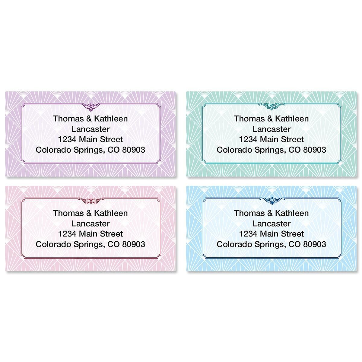 Art Deco Border Address Labels  (4 Designs)