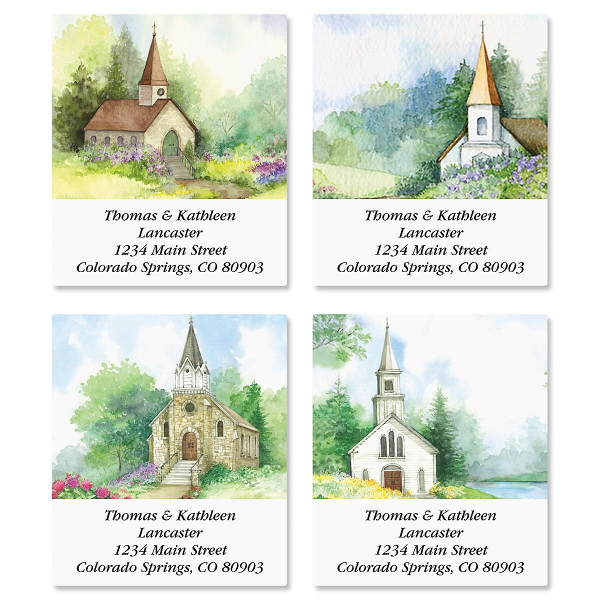 Grace Select Return Address Labels  (4 Designs)