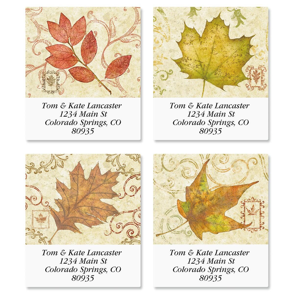 Fallen Leaves Select Address Labels  (4 Designs)