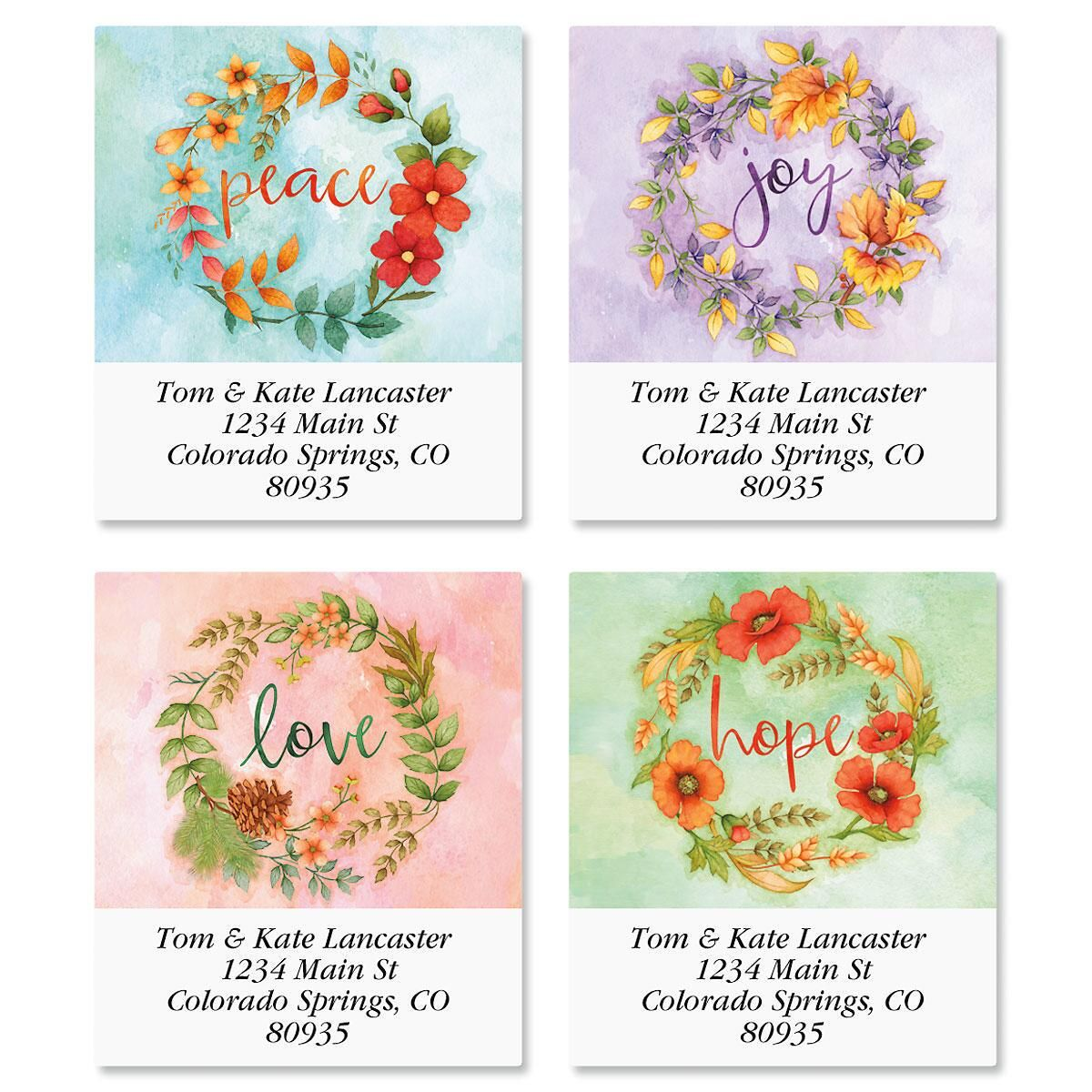 Wreaths Select Return Address Labels  (4 Designs)