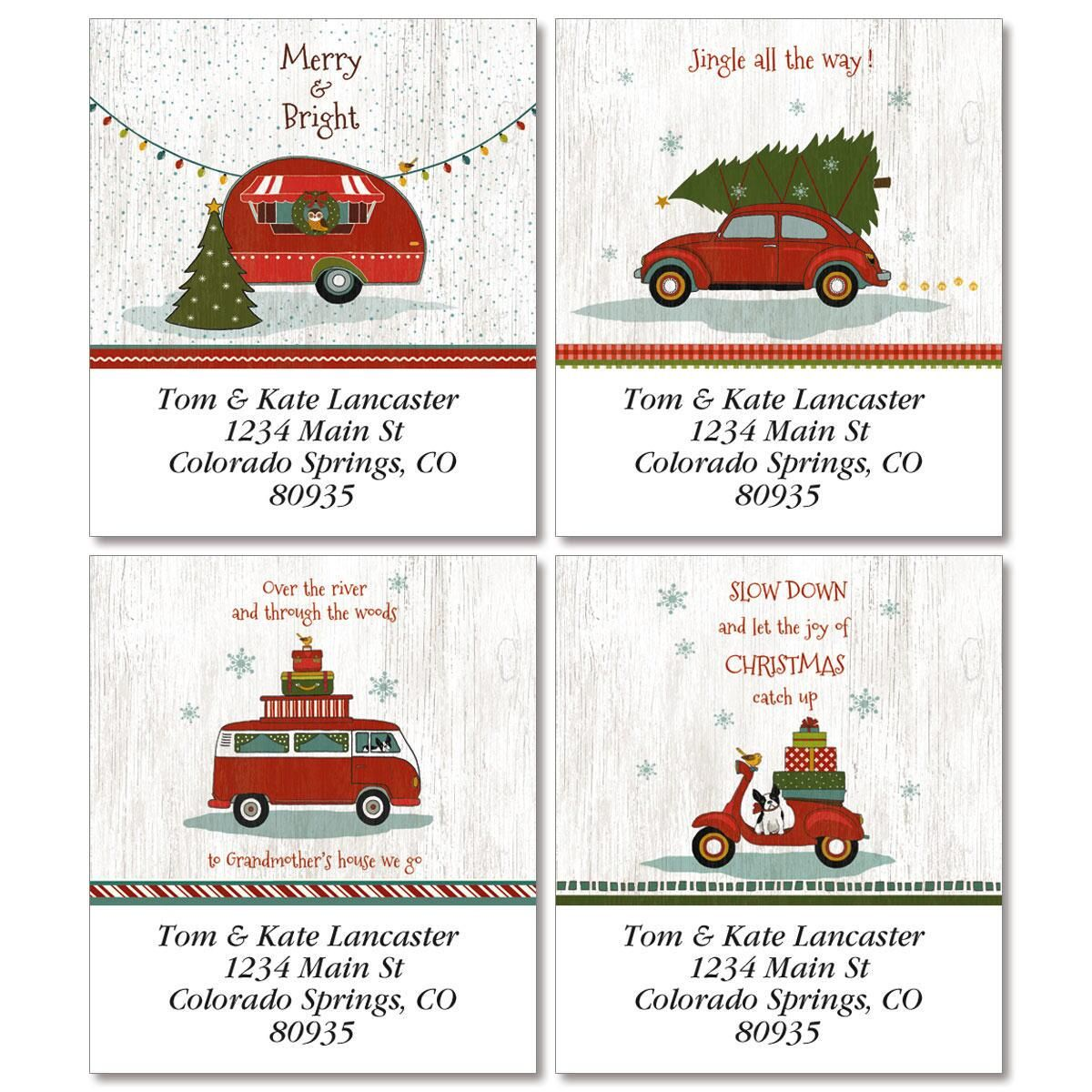 Holiday Highway Select Address Labels  (4 designs)