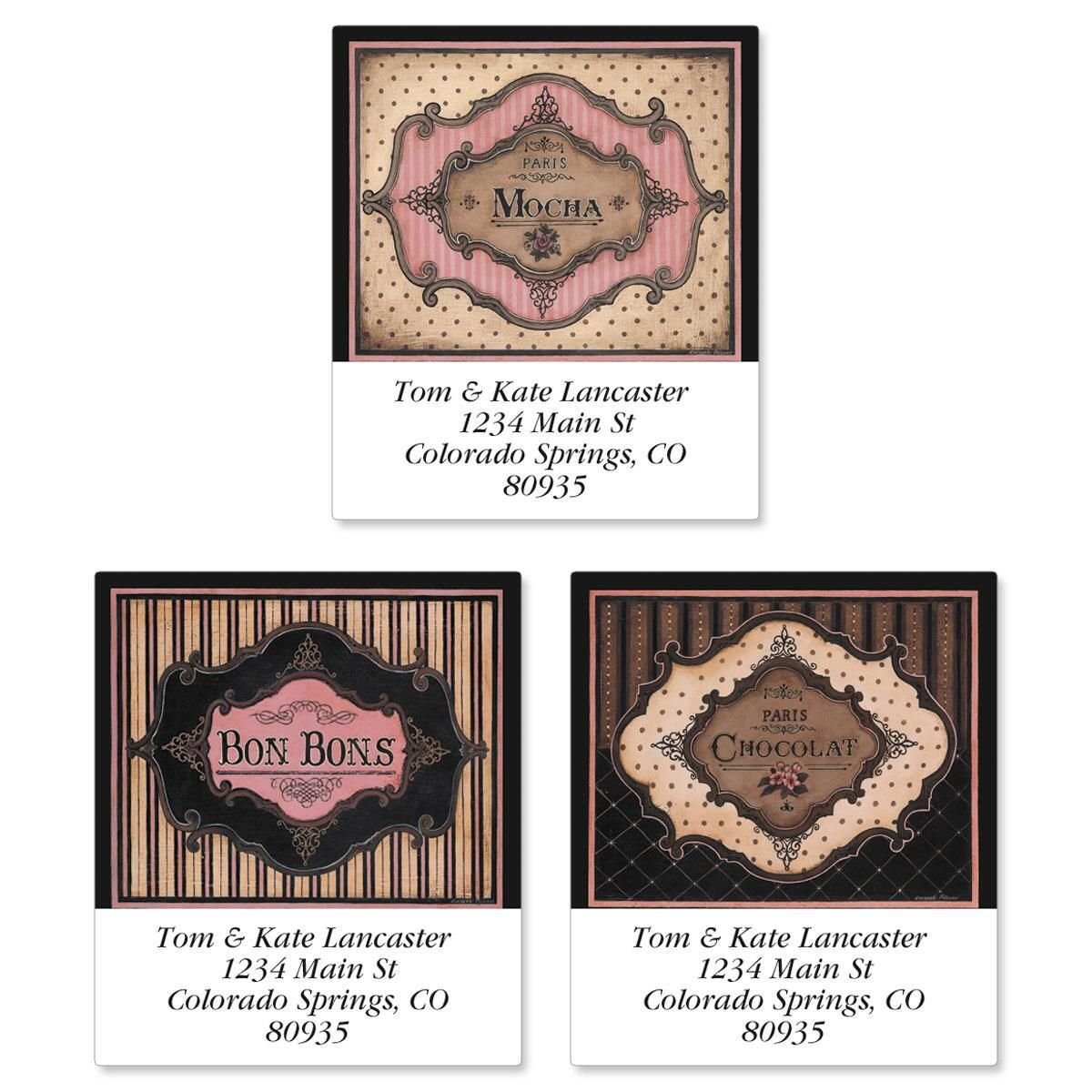 Parisian Sweets Select Return Address Labels  (3 Designs)