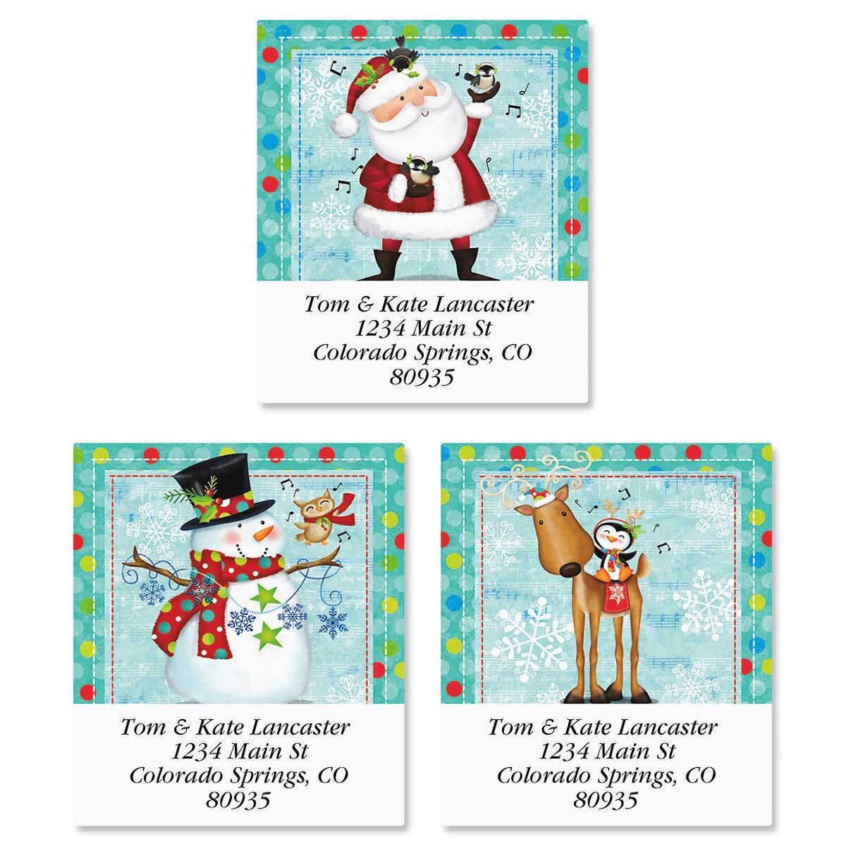 Winter Blues Select Return Address Labels  (3 Designs)