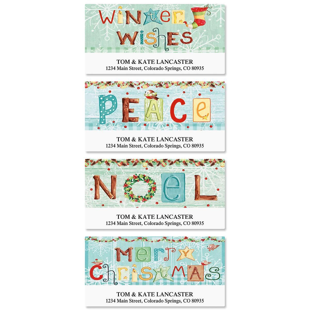 Winter Wishes Deluxe Return Address Labels