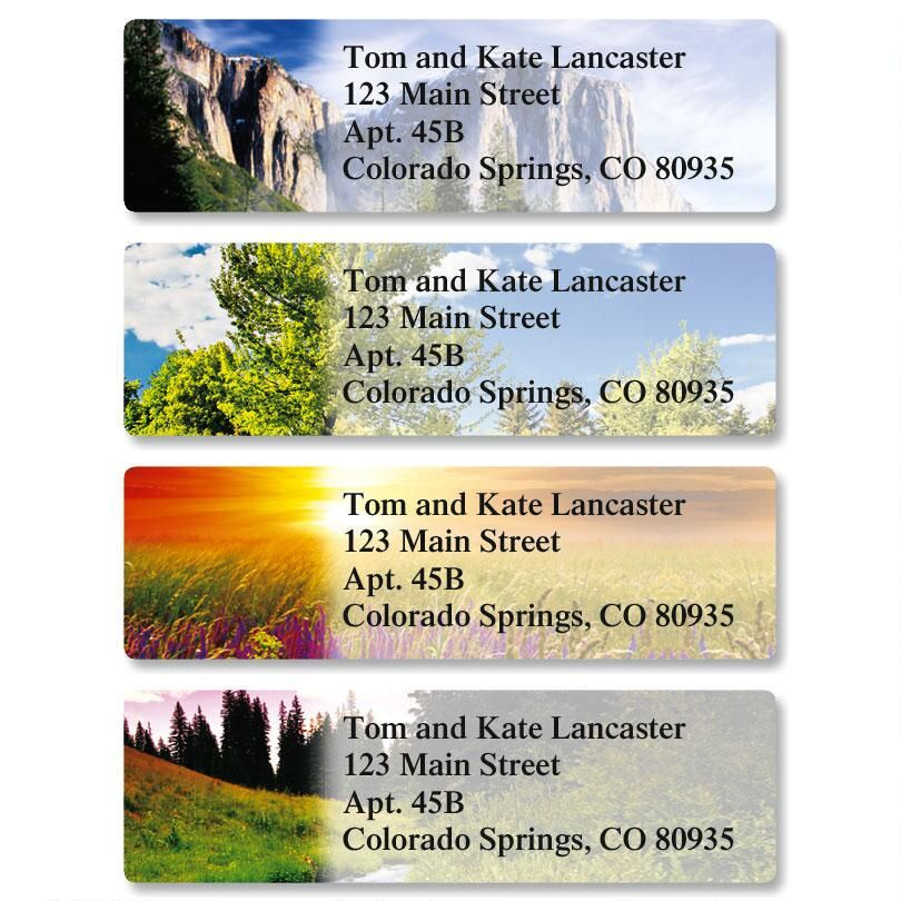 Beautiful Wilderness Classic Return Address Labels  (4 Designs)