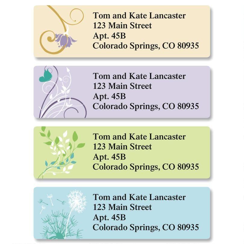 Silhouette Classic Return Address Labels  (4 Designs)