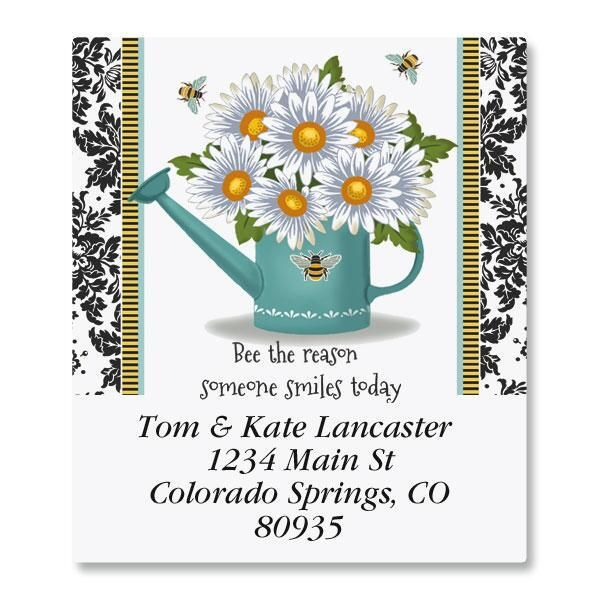 Garden Bee Select Address Labels  (8 Designs)
