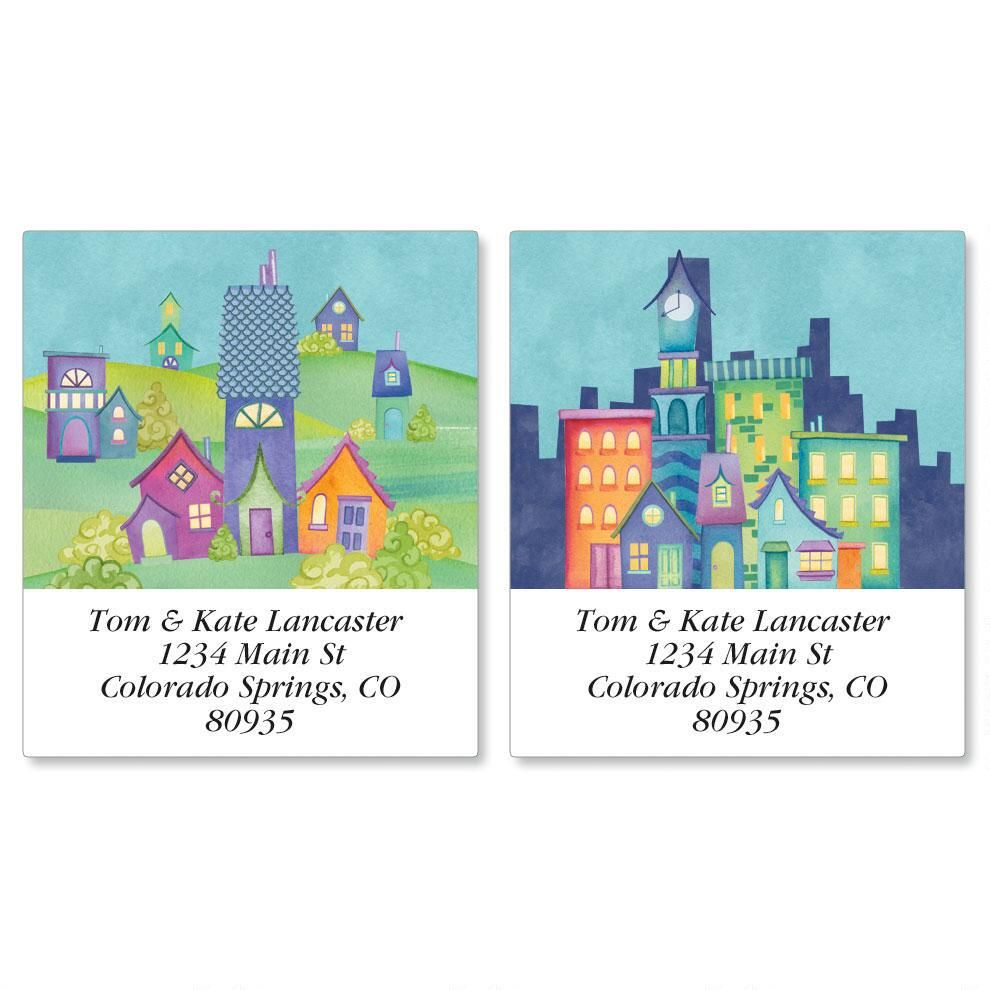 Town Talk Select Return Address Labels  (2 Designs)