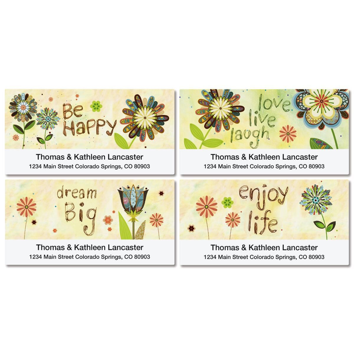Genuine Thoughts Deluxe Return Address Labels  (4 Designs)
