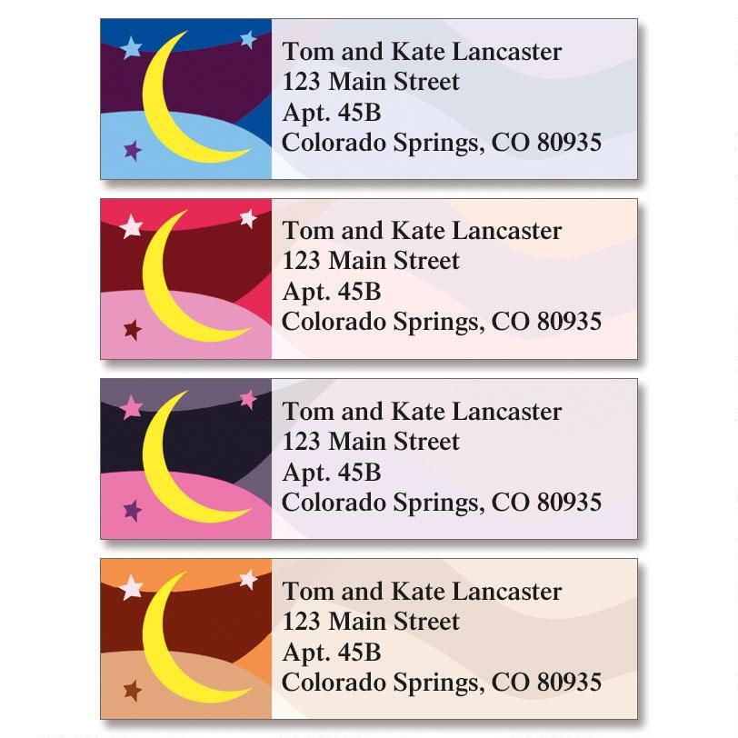 Stars & Moon Classic Address Labels  (4 Designs)