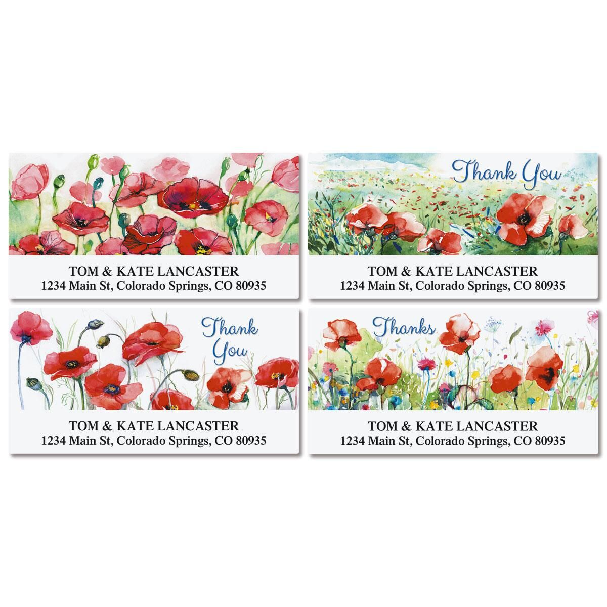 Thankful Deluxe Return Address Labels  (4 Designs)