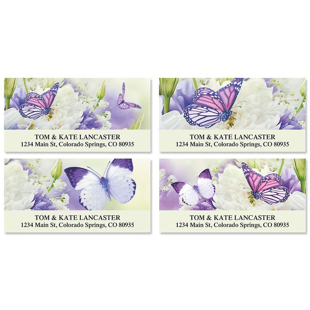 Butterfly Deluxe Return Address Labels (4 Designs)