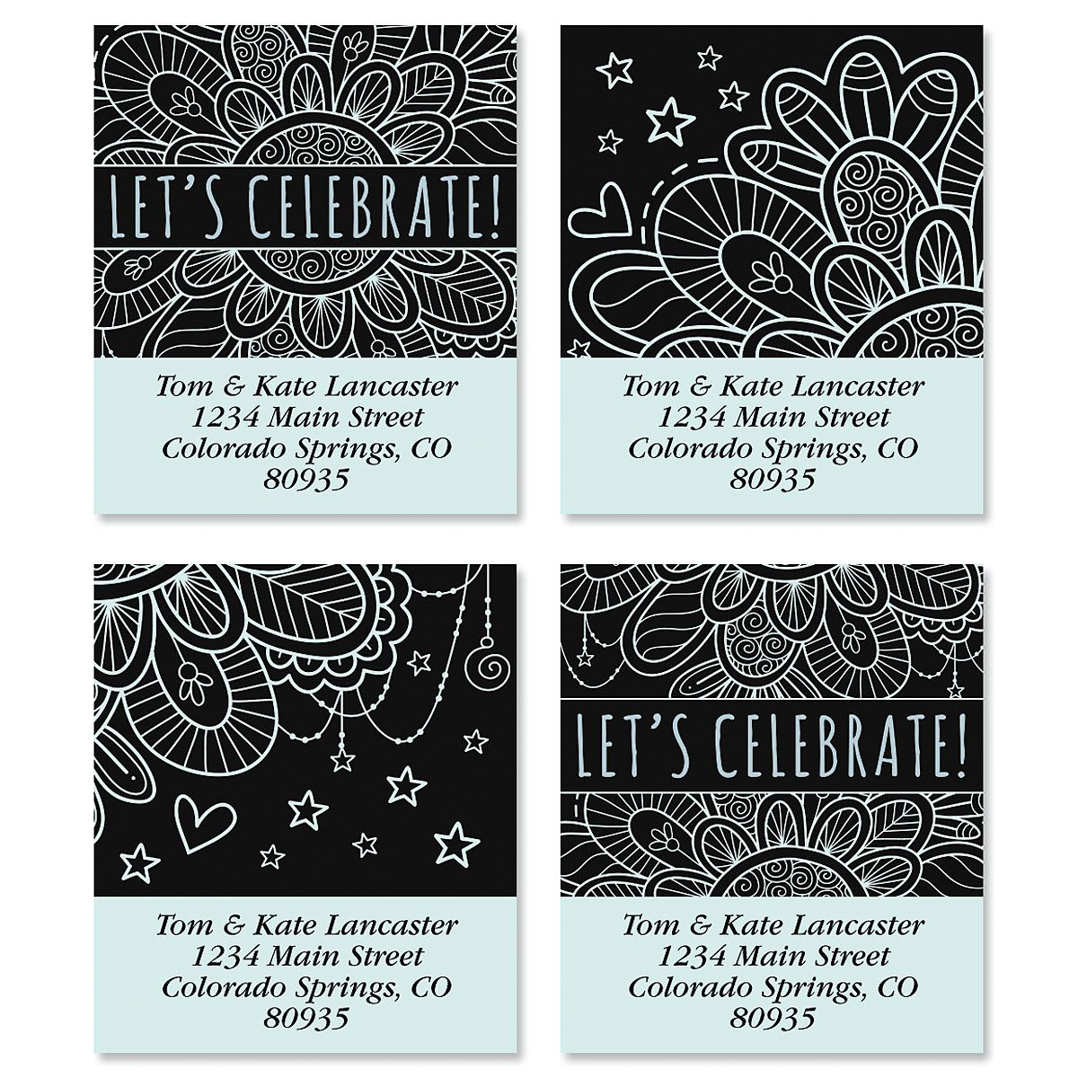 Let's Celebrate Select Address Labels (4 Designs)