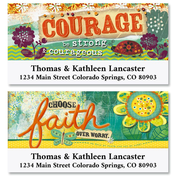 Choose Faith Deluxe Return Address Labels (2 Designs)