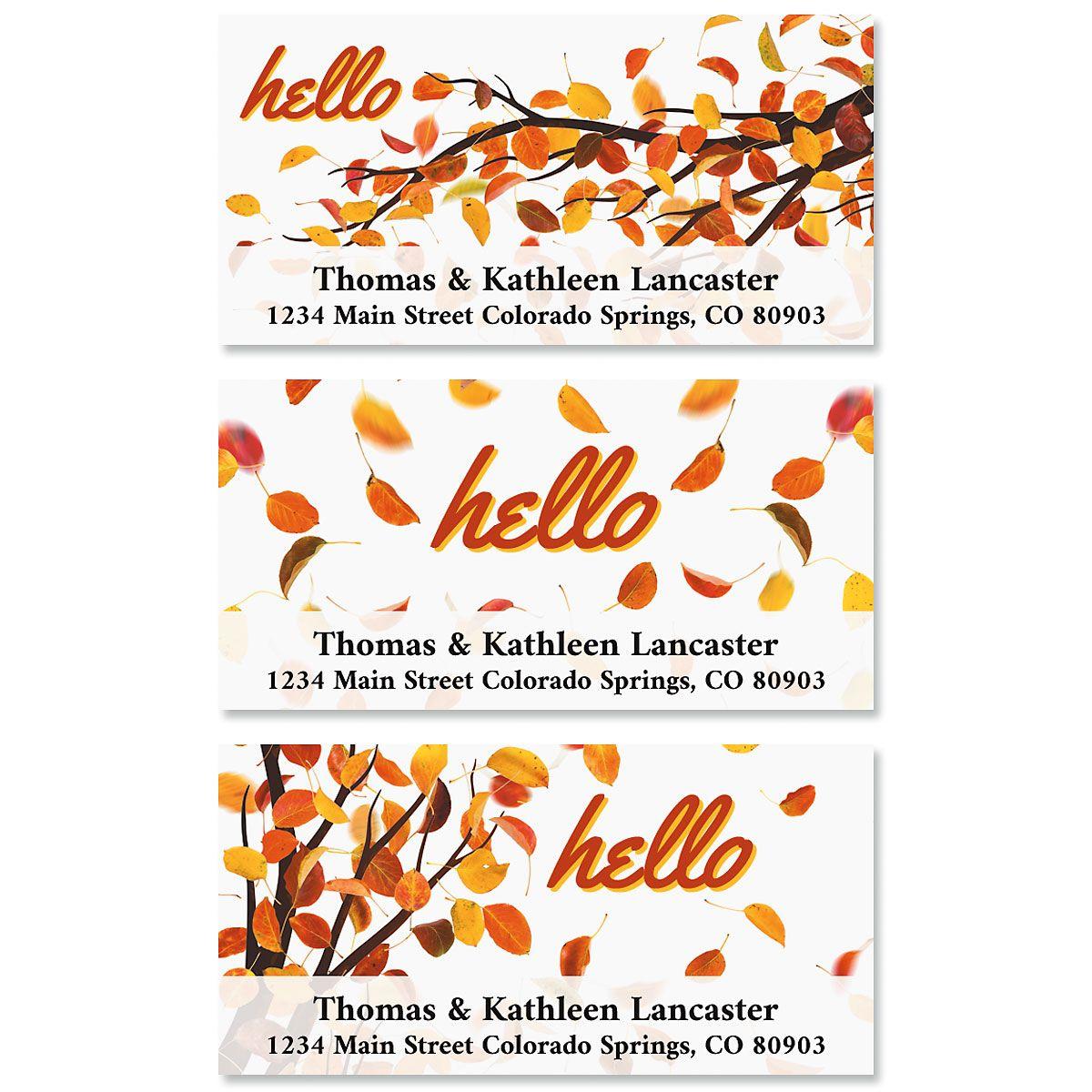 Hello Autumn Deluxe Return Address Labels (3 Designs)