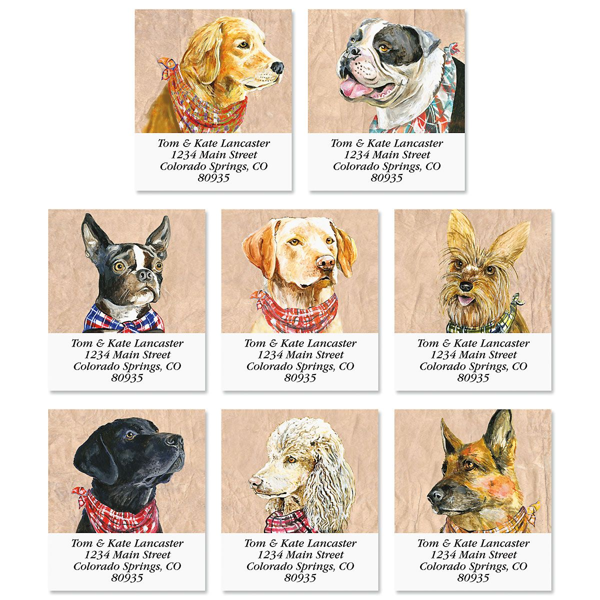 Canine Select Address Labels (8 Designs)