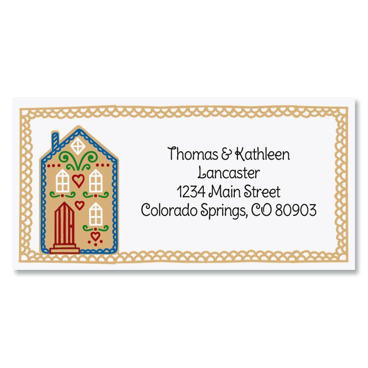 Home Sweet home Border Return Address Labels (6 Designs)