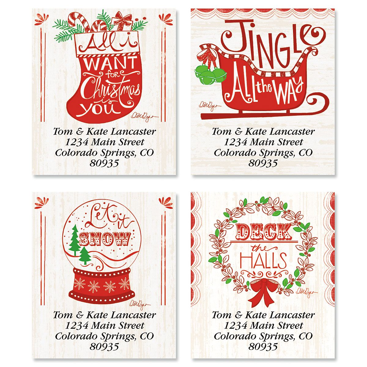 Holiday Bliss Select Return Address Labels (4 Designs)