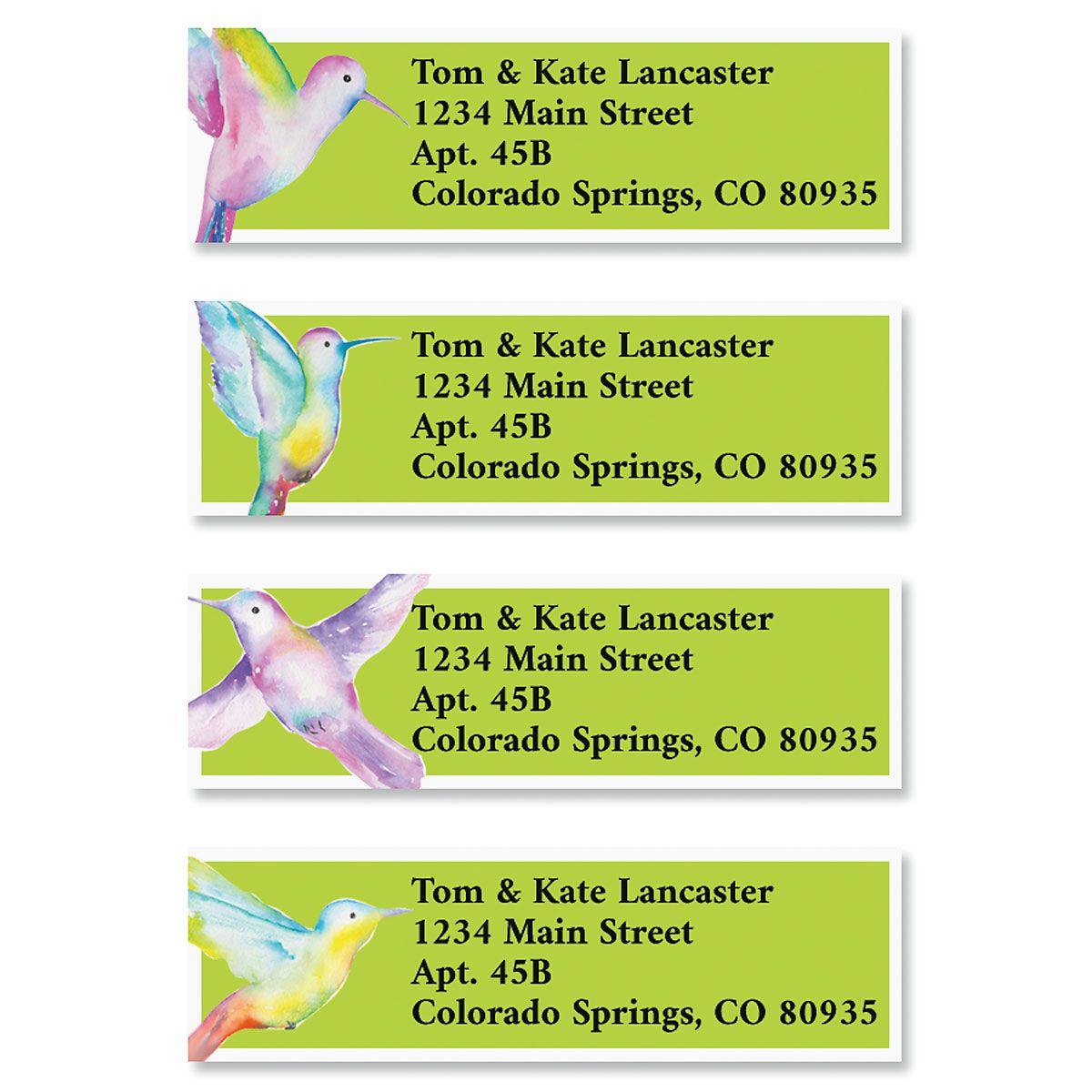 Bright Hummingbirds Classic Return Address Labels (4 Designs)