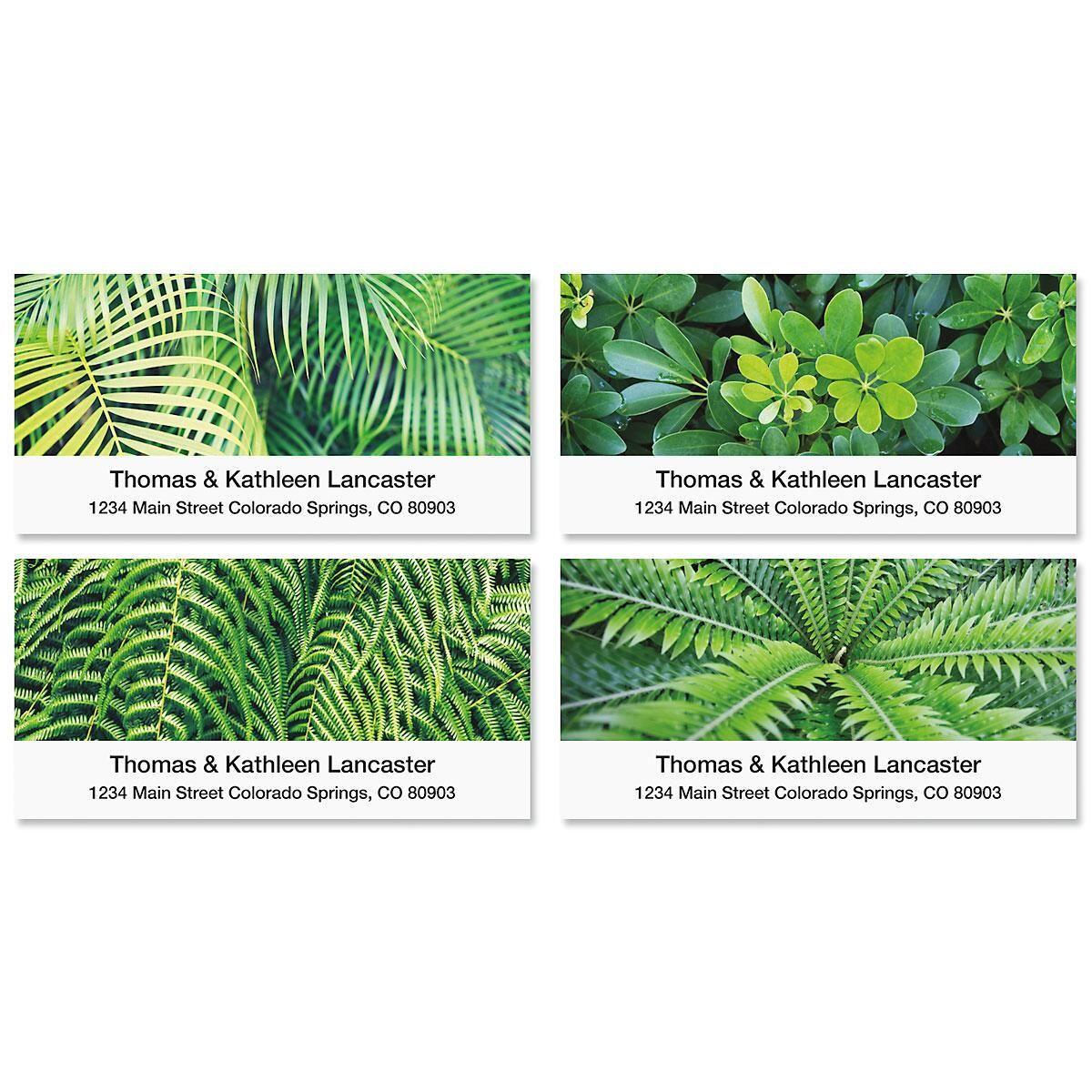 Botanical Deluxe Return Address Labels  (4 Designs)