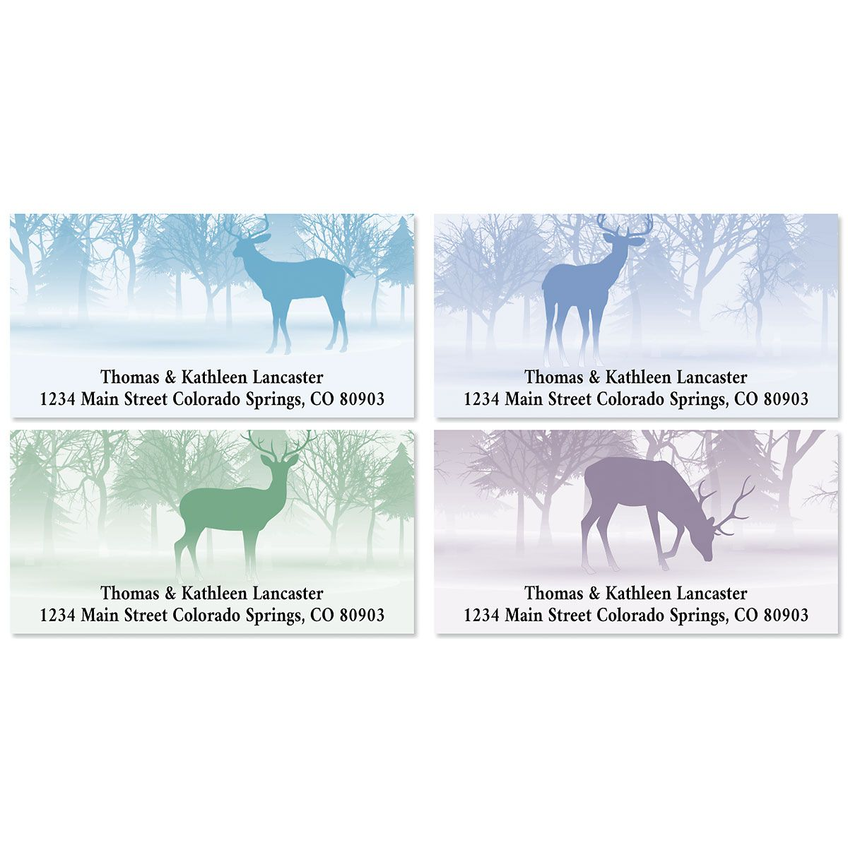 Wild Forest Deluxe Return Address Labels (4 Designs)
