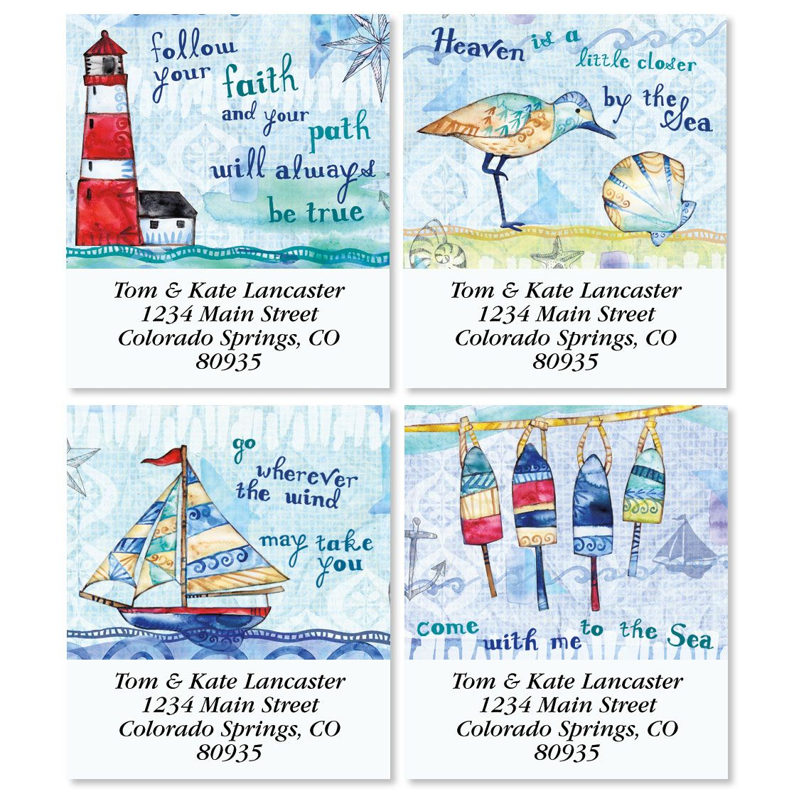 Color My Sea Select Return Address Labels (4 Designs)