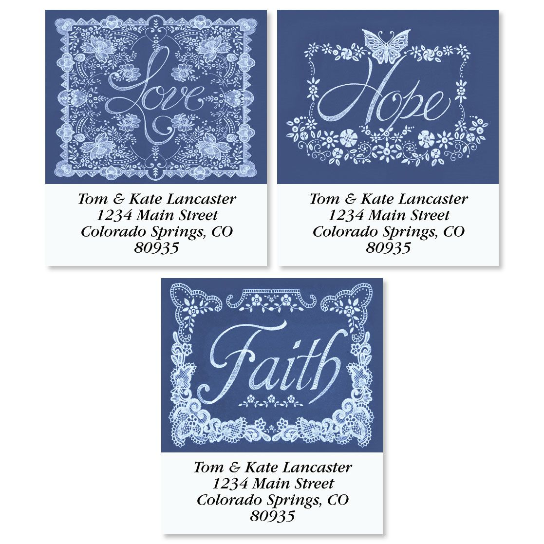 Lovely Lace Select Return Address Labels (3 Designs)