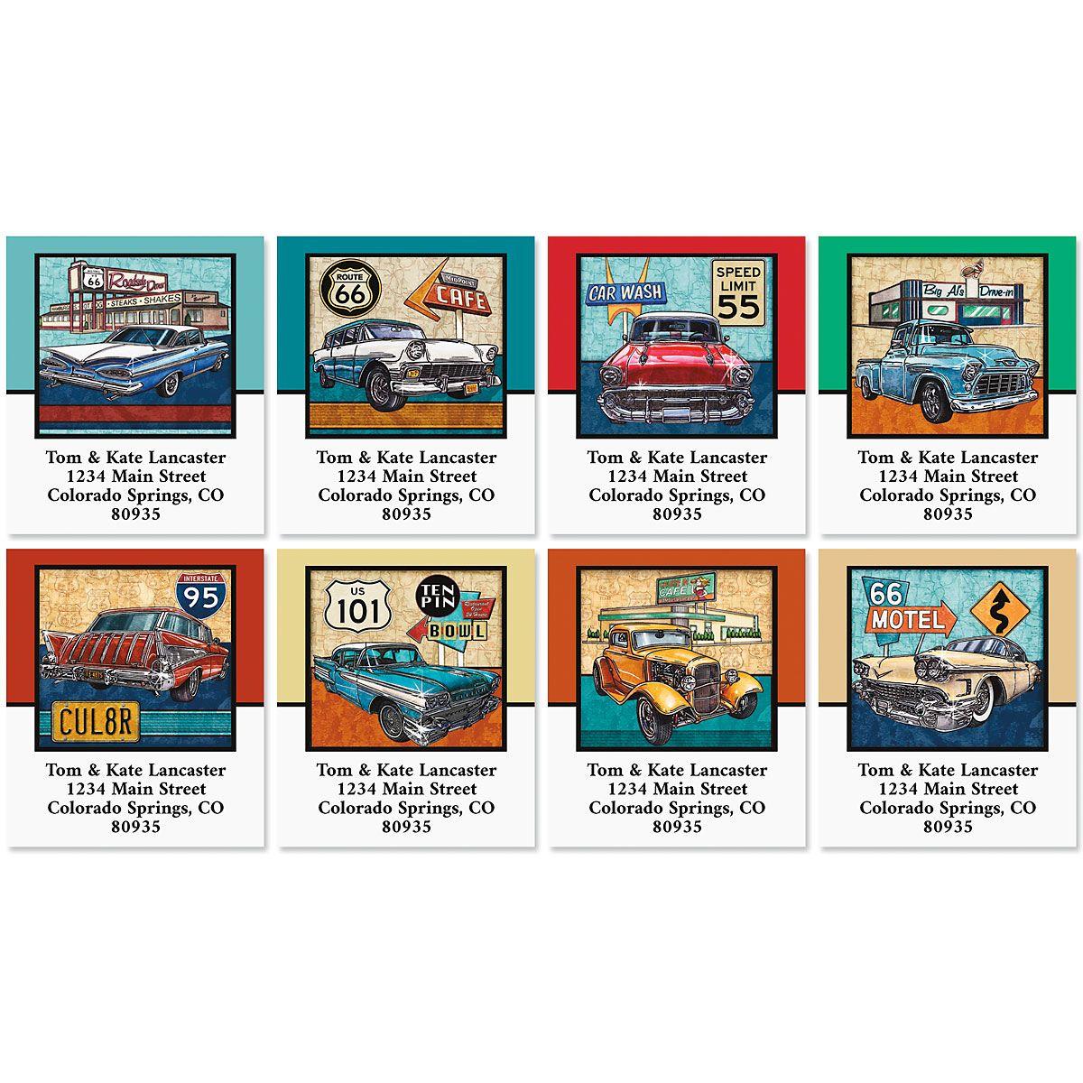Route 66 Select Return Address Labels (8 Designs)