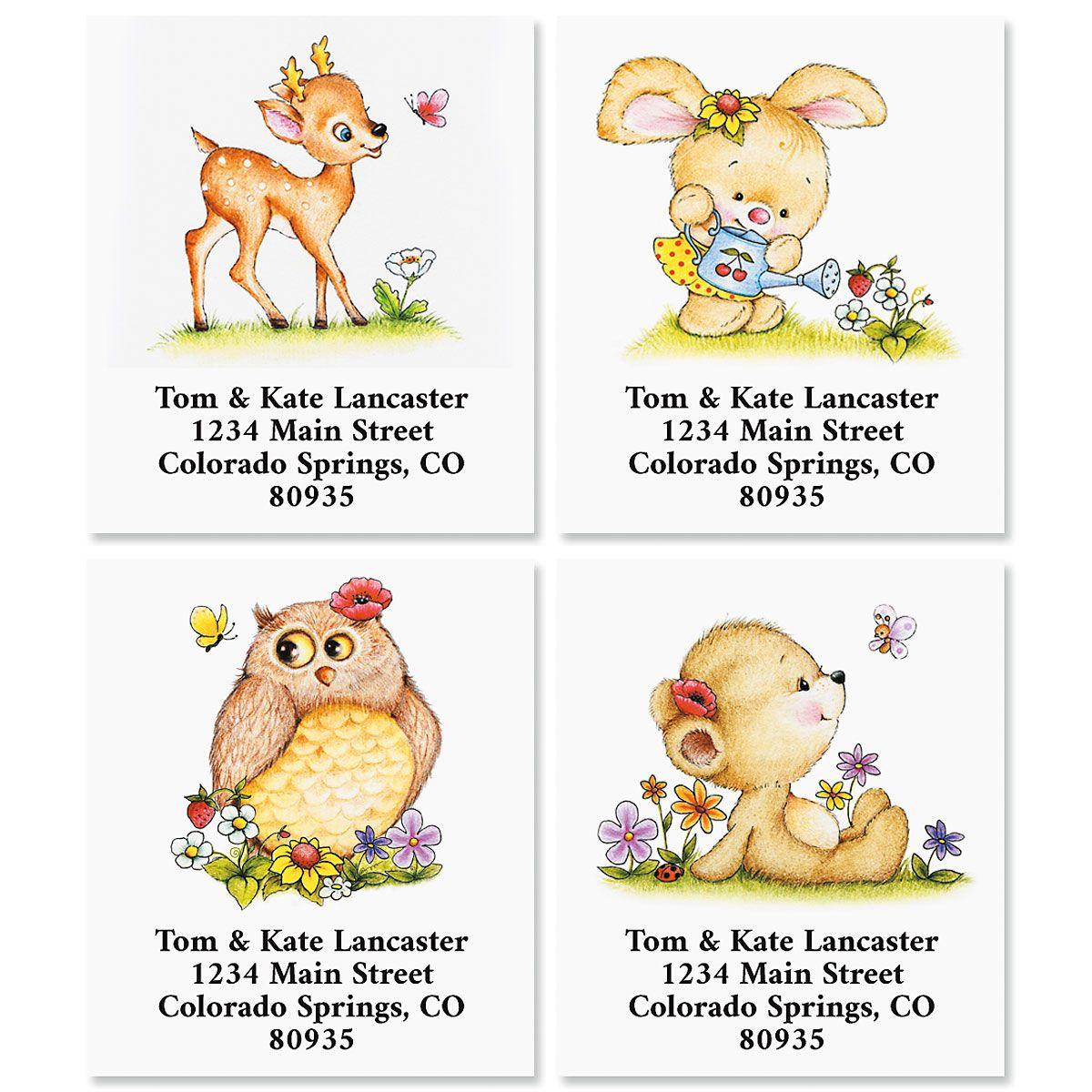 Flower Friends Select Return Address Labels (4 Designs)
