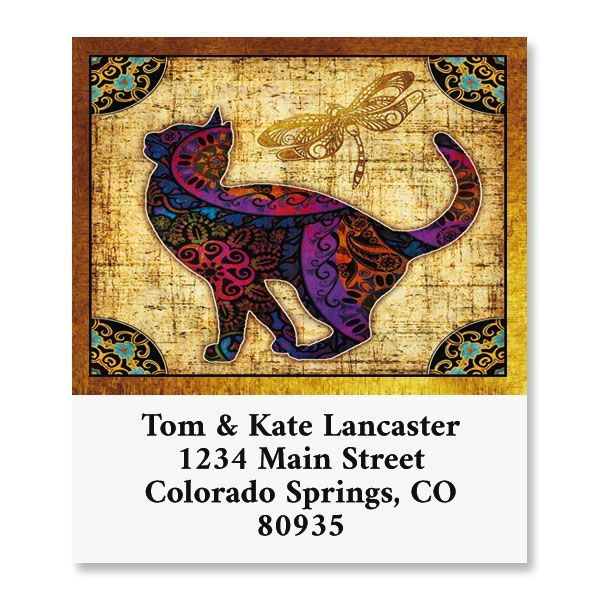Cat Ambiance Select Return Address Labels (8 Designs)