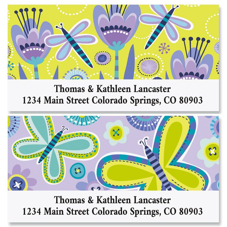 Hello Spring Deluxe Return Address Labels (2 Designs)