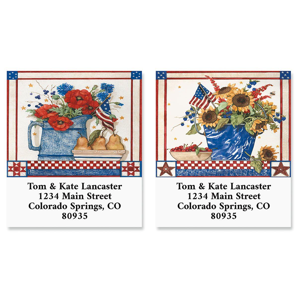Patriotic Picnic Select Return Address Labels (2 Designs)