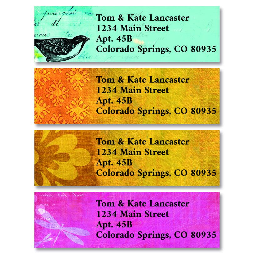 Fond of You Classic Return Address Labels (4 Designs)
