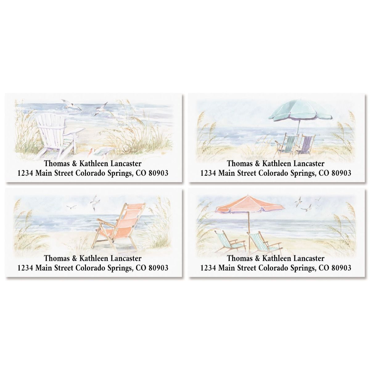 By the Sea Deluxe Return Address Labels