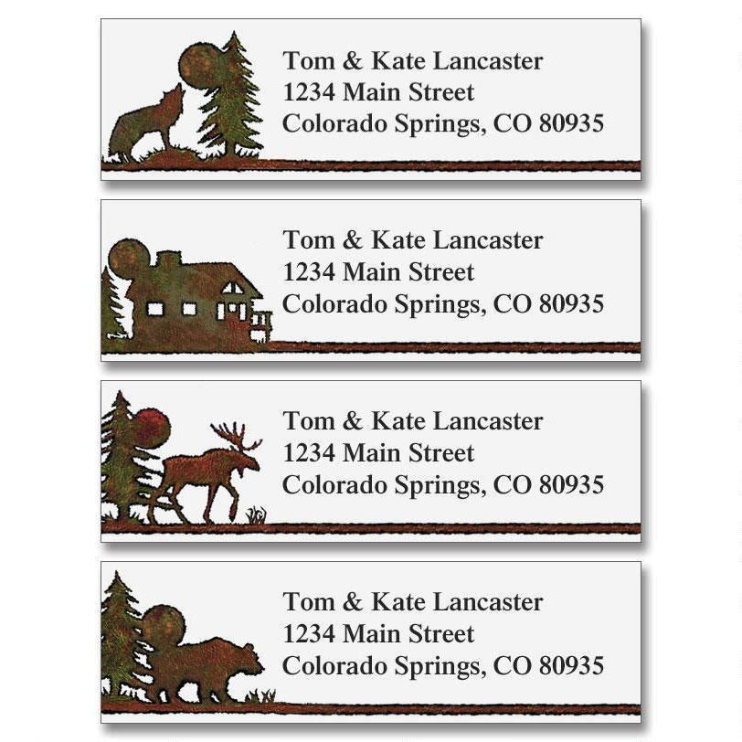 Country Lodge Classic Address Labels  (4 Designs)