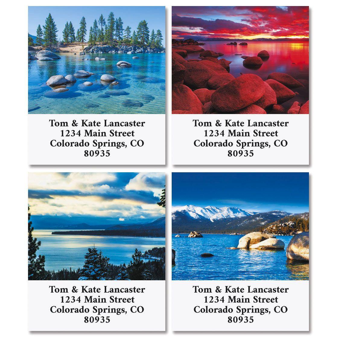 Lake Tahoe Select Return Address Labels (4 Designs