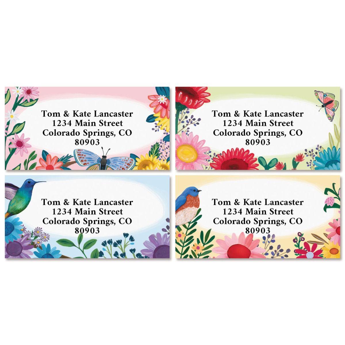 Daisy Dreams Border Return Labels (4 Designs)