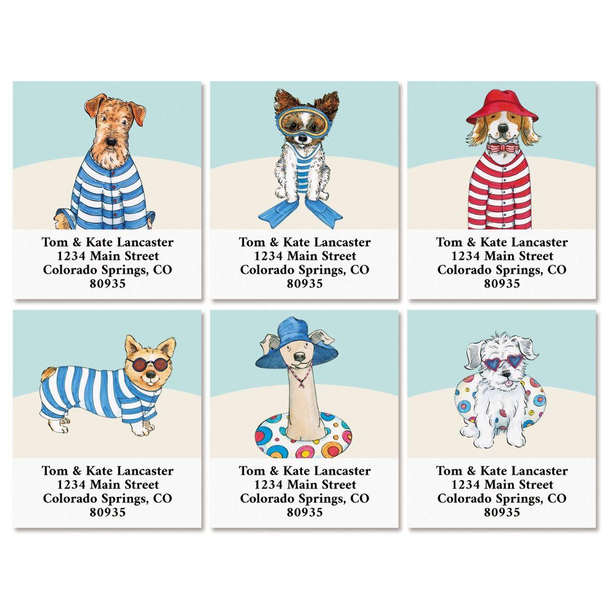 Beach Pack Select Return Address Labels (6 Designs)