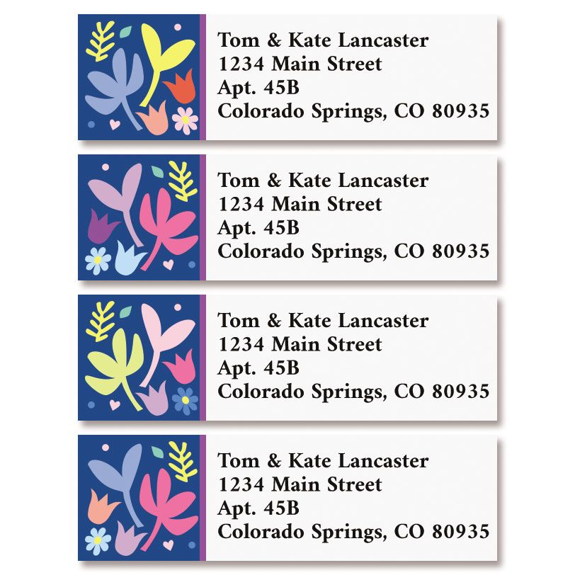 Simple Stems Classic Return Address Labels (4 Designs)