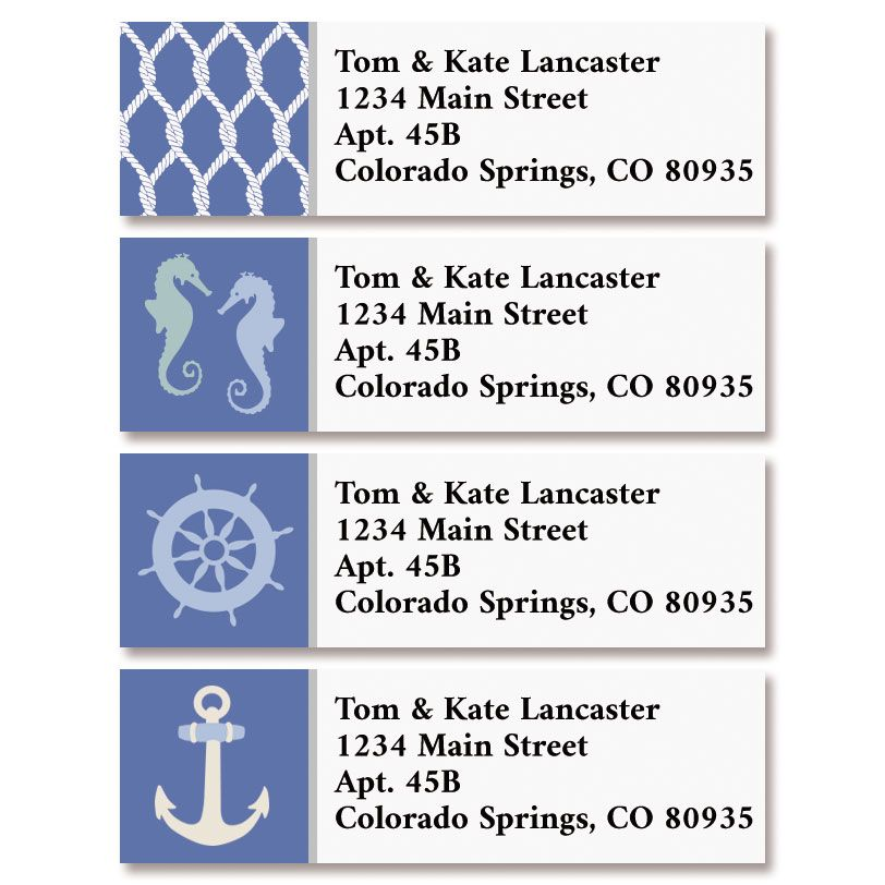 Anchors Aweigh Classic Return Address Labels (4 Designs)