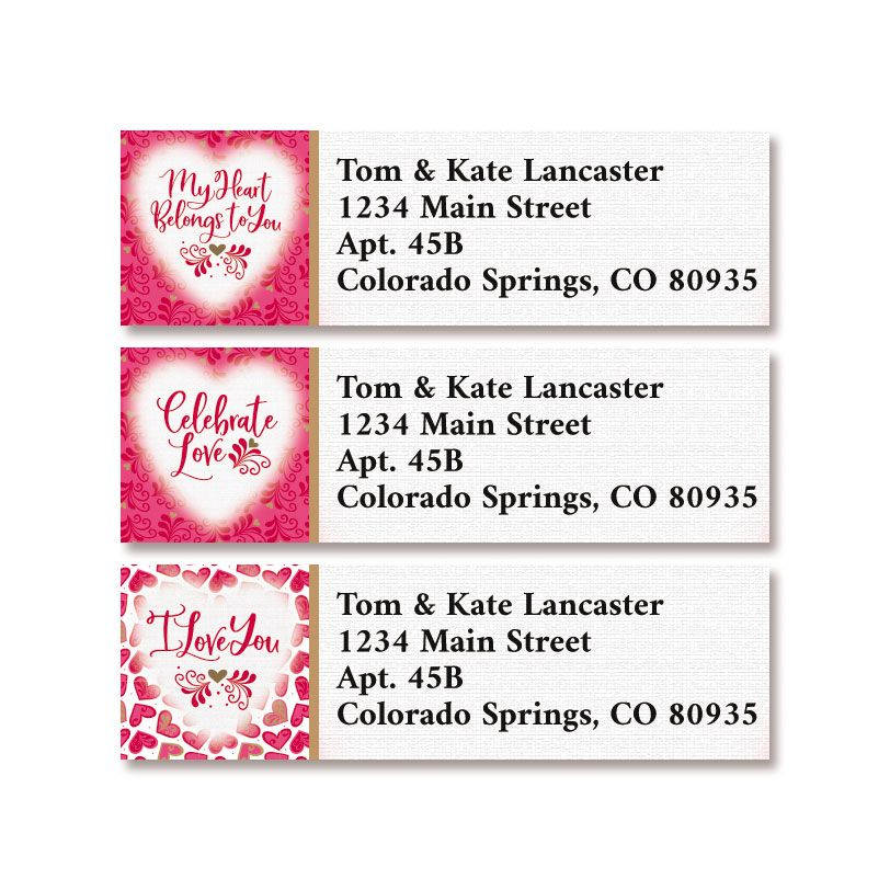 Celebrate Love Classic Return Address Labels (3 Designs)