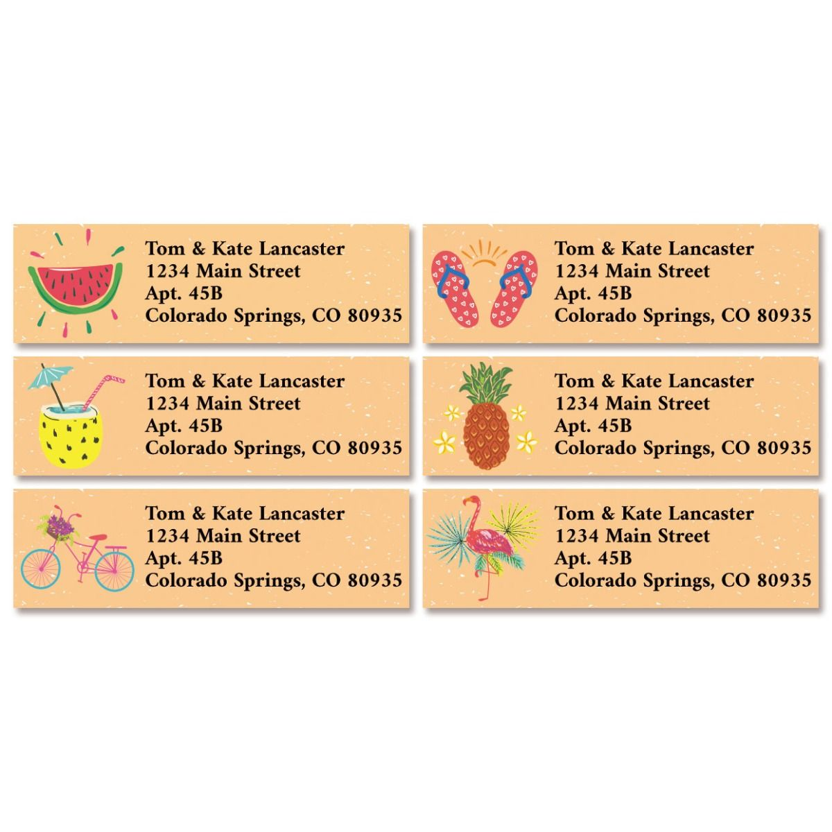 Summer Time Classic Return Address Labels (6 Designs)