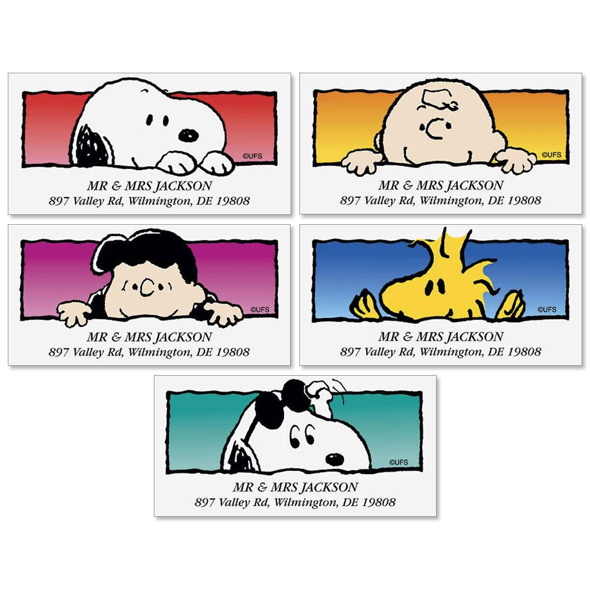 PEANUTS® Hi! There! Deluxe Address Labels  (5 Designs)