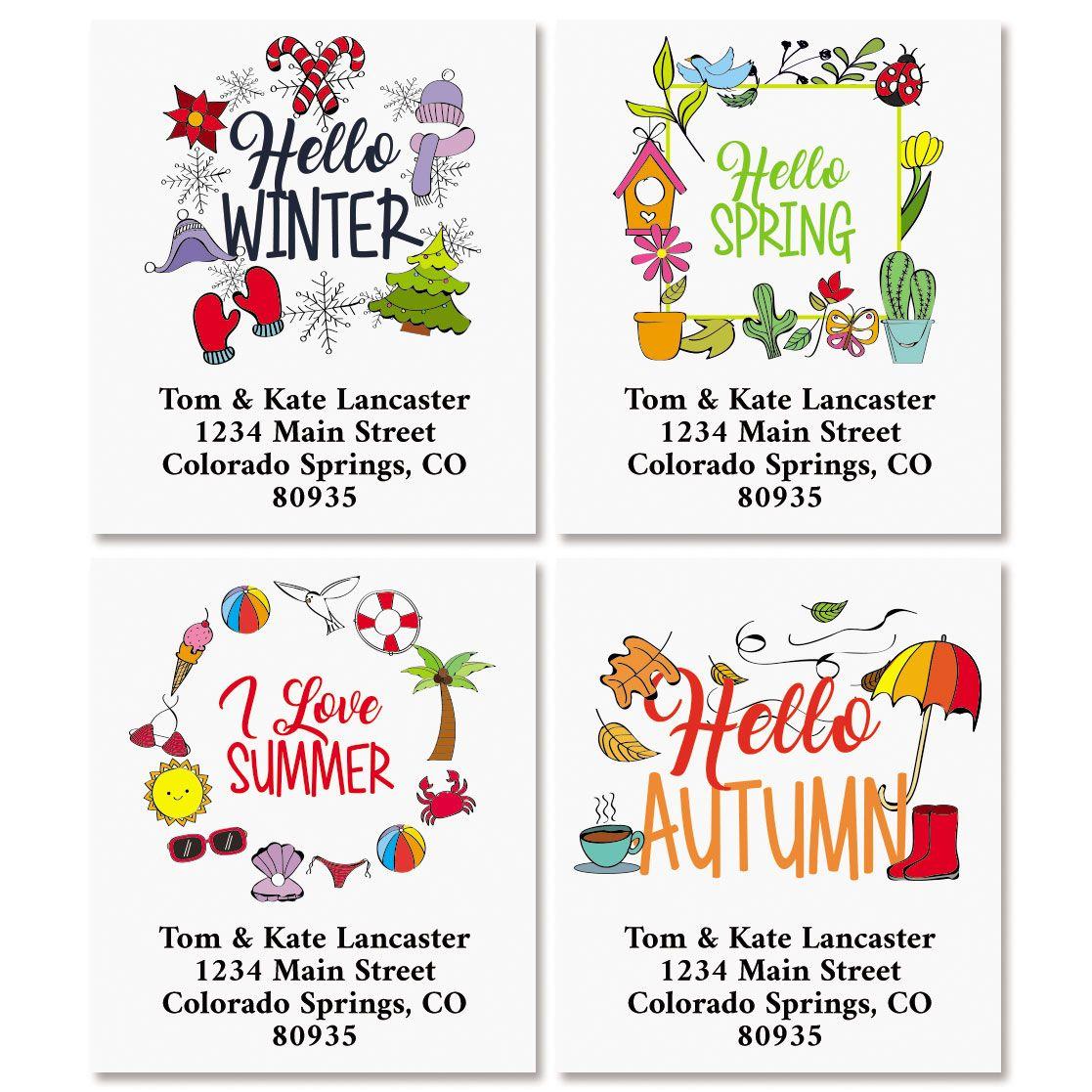 Four Seasons Select Return Address labels (4 Designs)