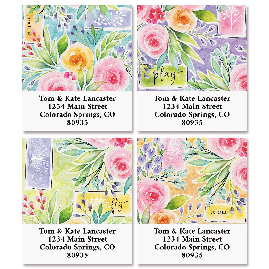 Full Bloom Select Return Address Labels (4 Designs)