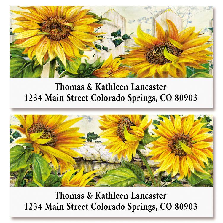 Sunflowers Deluxe Return Address Labels