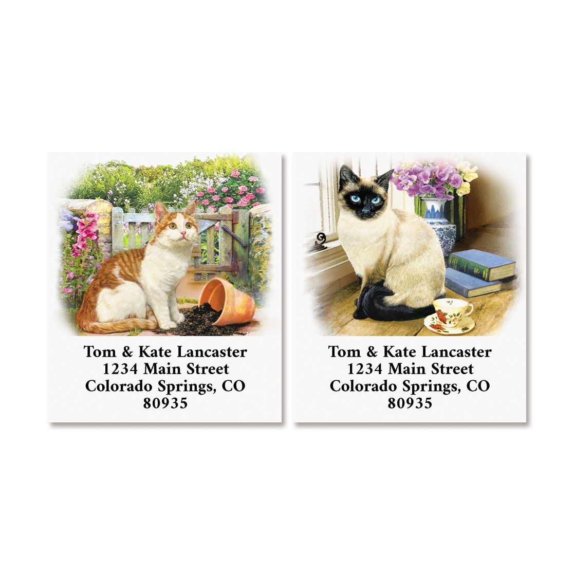 House Cats Select Return Address Labels (2 Designs)