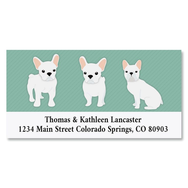 Frenchies Deluxe Return Address Labels