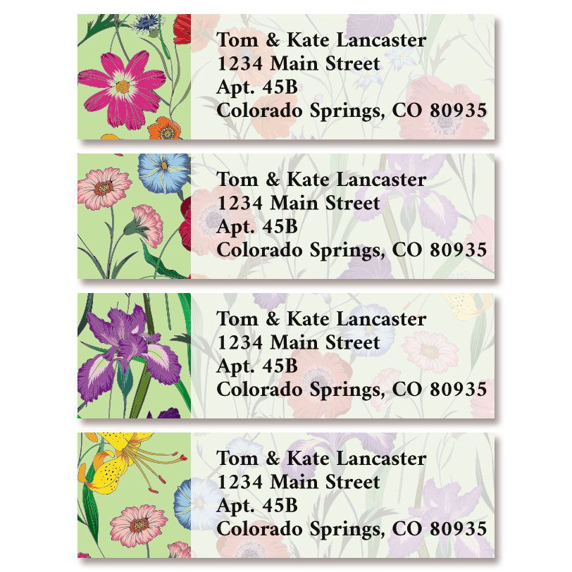 Flowers & Herbs Classic Return Address Labels (4 Designs)