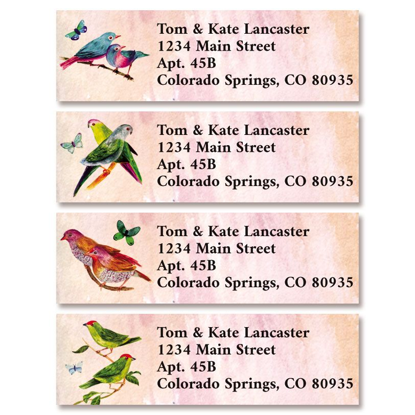 Feathered Friends Classic Return Address Labels